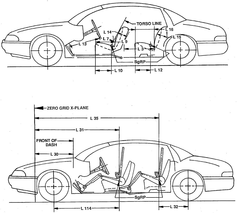 car dimensions diagram