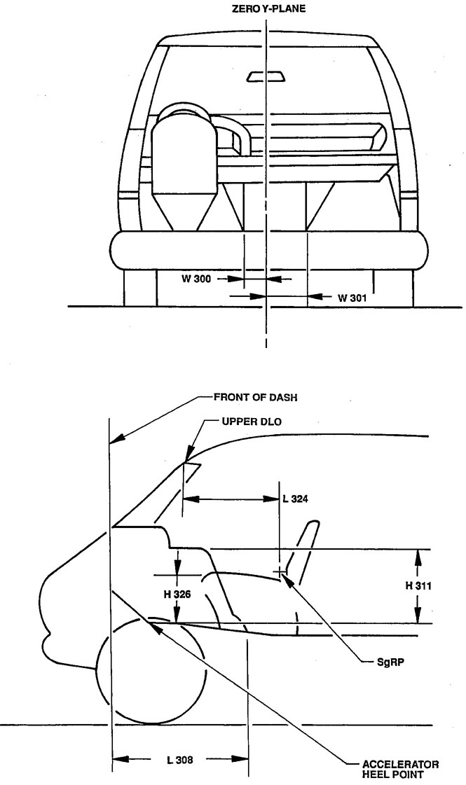 Figure 11 Truck Interior Dimensions Engine Compartment